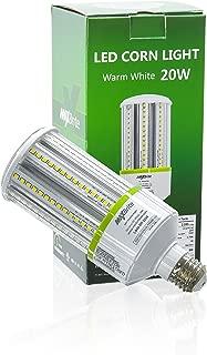 20W LED Corn Light Bulb Warm White 2700K Replaces 150W, 2,400 lumens Medium Base E26, 100-277V AC UL/cUL Certified