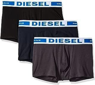 DIESEL 男式 kory 下体弹力三彩色腰带内裤3条装