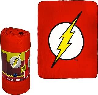 JPI Fleece Throw Blanket - The Flash Logo - Lightweight Faux Fur Fleece Blanket Large 50