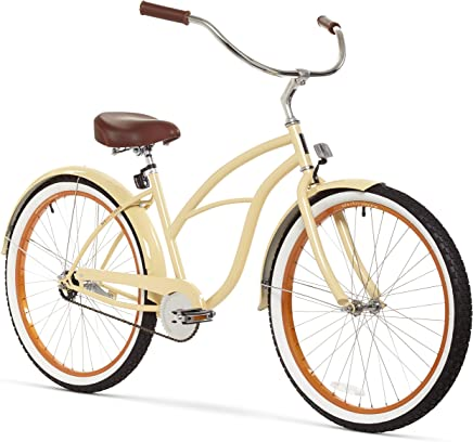 Sixthezero - Bicicleta Cruiser de Playa para Mujer, Ruedas de 66 cm y Marco de 43 cm