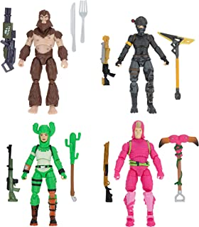Fortnite Alchemist Squad Mode, 4 Figure Pack - 4 Inch King Flamingo, Prickly Patroller, Bigfoot, Elite Agent Collectible A...