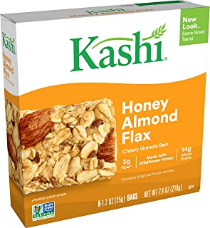 Kashi Chewy Honey Almond Flax Granola Bars - Box of 6