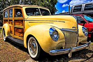 1939 Ford Deluxe Woody Wagon- CANVAS OR FINE PRINT WALL ART