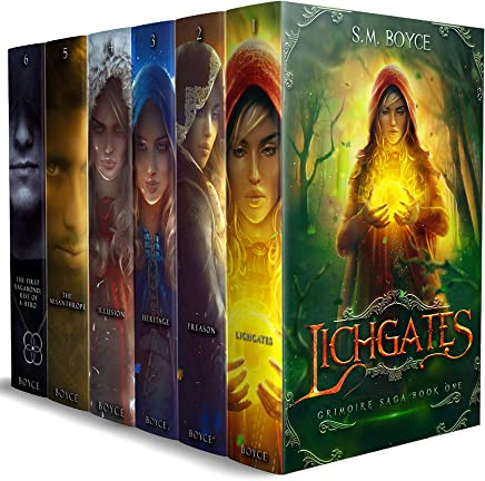 The Complete Grimoire Saga box set: Books 1 - 6 of this epic fantasy adventure with a modern twist (English Edition)