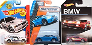 Hot Wheels BMW Exclusive 2016 Car model M1 BMW + E36 Series M3 Race #169 & M1 Series Matchbox #71 Adventure City Model car Set in PROTECTIVE CASES