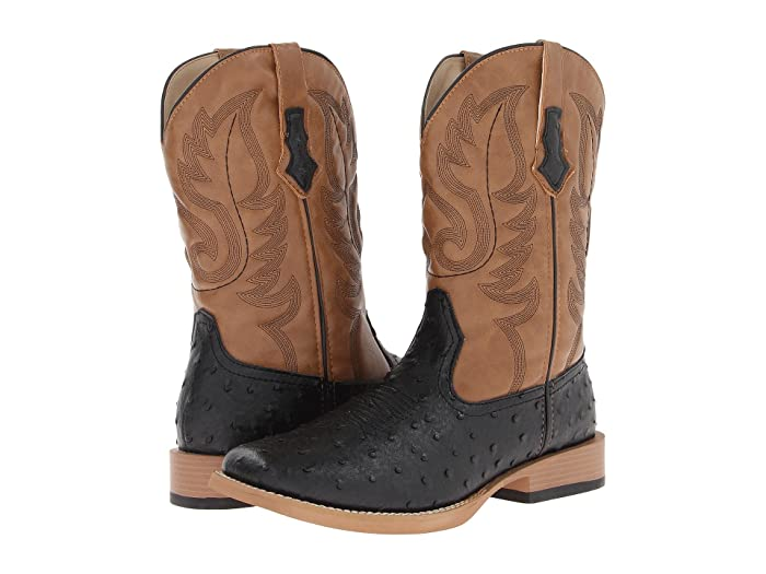 2dd8c24912f Ostrich Print Square Toe Cowboy Boot