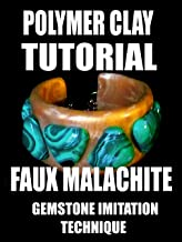 Polymer clay tutorial - faux malachite; gemstone imitation technique