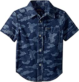 Camo Cotton Chambray Shirt (Toddler)