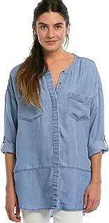 Women's Plus Size Patch Pocket Tencel Tunic