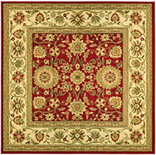 Safavieh Lyndhurst Collection LNH212F Traditional Oriental Red and Ivory Square Area Rug (8` Square)
