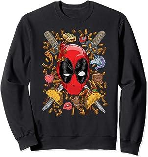 Marvel Deadpool Snacks and Bullets Sweatshirt