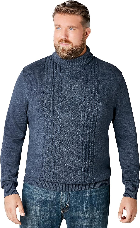 Liberty Blues Men's Big & Tall Shoreman's Cable Knit Turtleneck Sweater