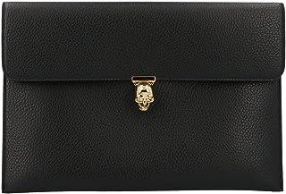 Alexander Mcqueen Women's 5541971DD0G1000 Black Leather Clutch