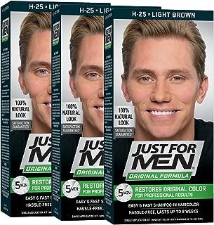 Just For Men Original Formula Men's Hair Color, Light Brown (Pack of 3)