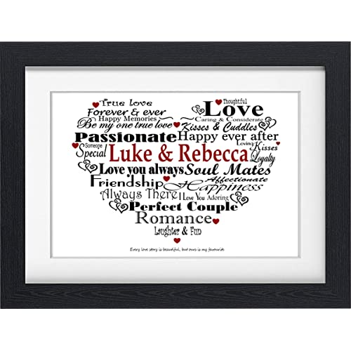 Personalised Boyfriend Typography Gift Present For Valentines Birthday Christmas Anniversary Or Just Because