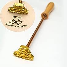 Custom Logo Wood Branding Iron,Durable Leather Branding Iron Stamp,Wood Branding Iron/Wedding Gift,Handcrafted Design,Woodworking Design (1'x1
