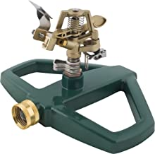 Melnor Impact Lawn Sprinkler, Metal Head & Metal Sled, Adjustable Angle and Distance, Waters Up to 85' Diameter Circle