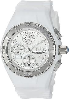 TechnoMarine Women 's ' Cruise ' Quartzステンレススチールand Silicone Casual Watch, Color : White (Model : tm-115357)