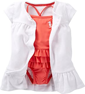 Baby Girls' 2-piece Swimsuit & Cover up Set