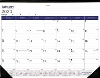 Blueline 2020 DuraGlobe Monthly Desk Pad Calendar, 22 x 17 Inches (C177227-20)