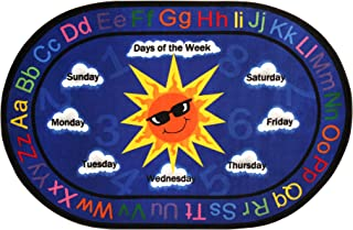 Sprogs SPG-FE605-33A-SO Kids Sunny Days Alphabet Rug (5' 10