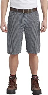 Blue & White Striped Regular Fit Work Shorts