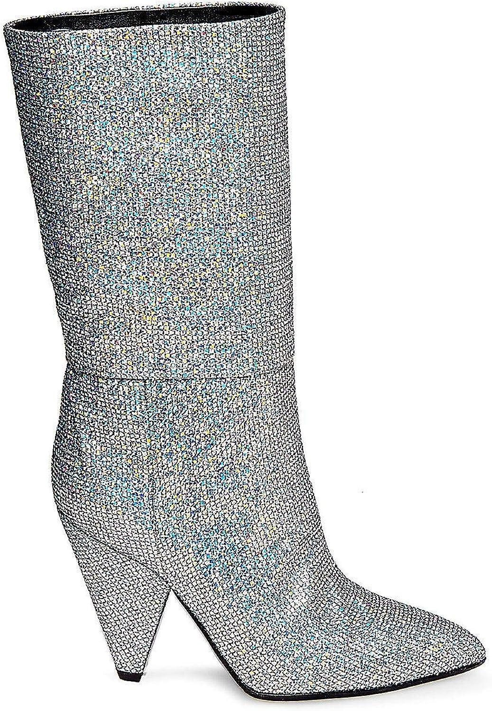 Steve Madden Womens Jana Fabric Pointed Toe Mid-Calf Fashion Boots