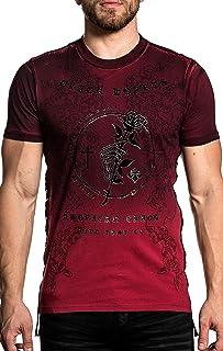 Affliction Black Heart Short Sleeve Fashion Graphic Black Label T-shirt For Men