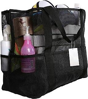 EXTSUD Extra Große Reisetasche Strandtasche Sand Spielzeug Aufbewahrungstasche Faltbare Handtaschen Netztasche Picknicktas...