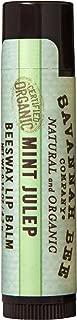 Savannah Bee Company Certified Organic Mint Julep Lip Balm, 0.15-Ounce (Pack of 4)
