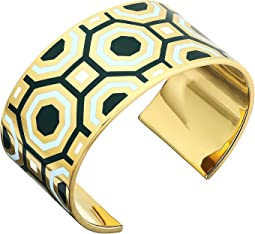Tory Burch Octagon Geo Enamel Cuff Bracelet