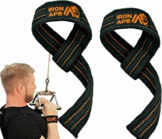 IRON APE Weight Lifting Wrist Straps for Weightlifting, Deadlift, Powerlifting and Bodybuilding. Heavy Duty Cotton, Available in Standard (21