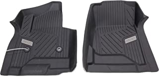 GM 84073616 Premium Front All-Weather Floor Liners in Black with GMC Logo, for Crew and Double Cab Vehicles with Carpets (B30)
