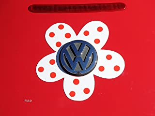 Bling My Bug Magnetic VW Beetle Decal Red Polka Dot Daisy
