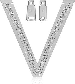 Zipper Die Cut Set - Metal Cutting Dies for Card Making, Scrapbooking, Paper Crafting - by Matty's Crafting Joy