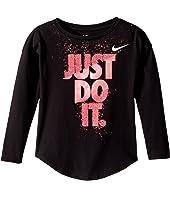 Nike Kids Hard Stop Just Do It Modern Long Sleeve Tee (Little Kids)