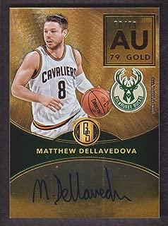 2016-17 Panini Gold Standard Basketball AU Autograph #MD Matthew Dellavedova Auto 60/79 Milwaukee Bucks