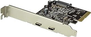 StarTech.com PEXUSB312C2 - Tarjeta PCI Express de 2 Puertos USB 3.1, Color Negro y Plata