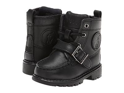 Polo Ralph Lauren Kids Ranger Hi II (Toddler) (Black Leather) Boys Shoes