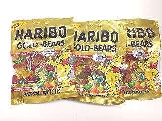 Haribo Gummi Candy, Gold Bears, 160g x 3, Halal, 3 Packs, Altin Ayicik