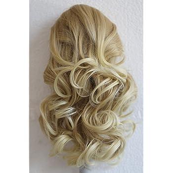 "PRETTYSHOP 14"" Hair Piece Pony Tail Extension Draw String Voluminous Wave Heat-Resisting blond mix # 27T613 PH208"