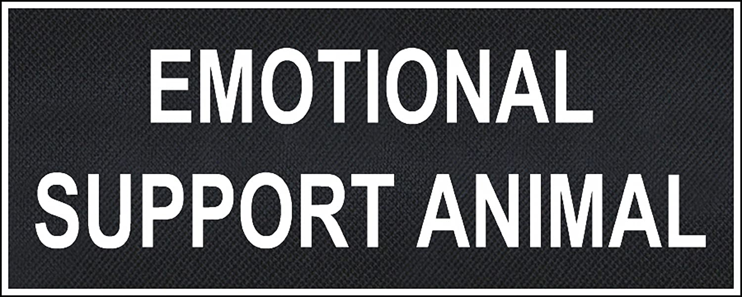 Emotional Support Animal Large nylon velcro patches by Dean & Tyler.