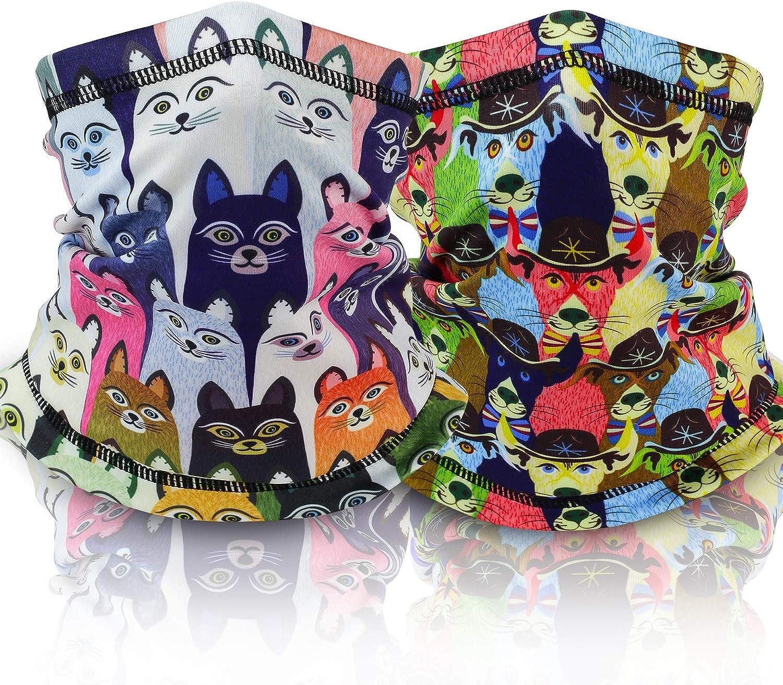 Darchen Kids Cotton Neck Gaiter Face Mask Winter Fleece Neck Warmer for Boys and Girls Cold Weather Outdoor Recreation
