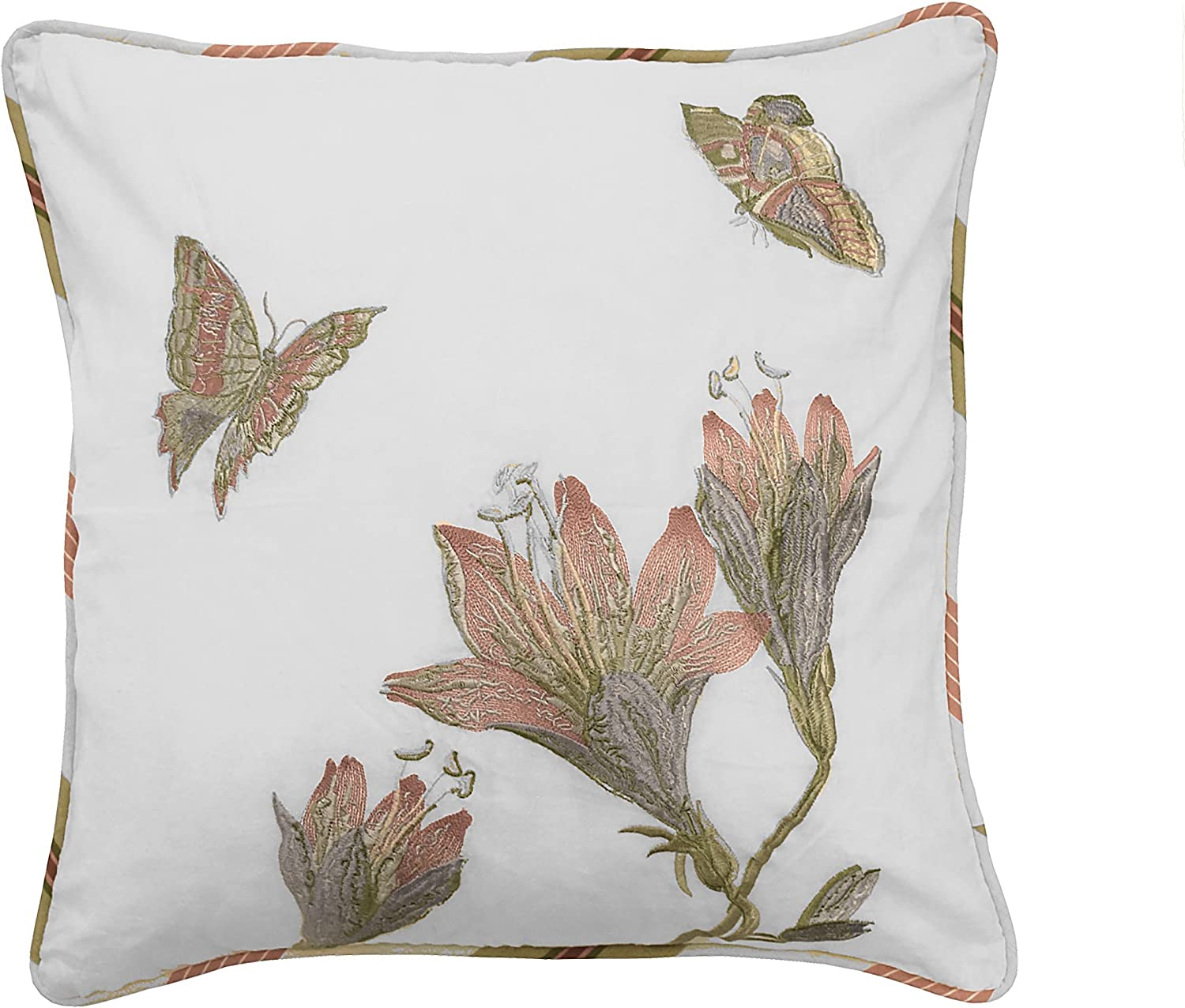 Waverly Laurel Springs Opal Pillow Max 45% OFF x Embroidered Super beauty product restock quality top 18