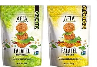 Non-GMO, Vegan/Gluten Free Frozen Original Falafel & Spicy Turmeric Falafel Bundle - Pack of (10) bags - (approx 150 count) - Just Heat & Eat!