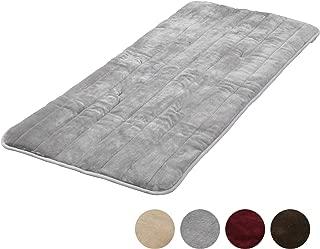 [山善] 洗えるどこでもカーペット (丸洗い可能) 180×80cm フランネル仕上げ 室温センサー付 グレー YWC-182F(G) [メーカー保証1年]