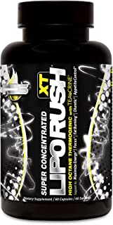 NDS Nutrition LipoRush XT - Super Concentrated Thermogenic With L-Carnitine And Teacrine For Shredding Fat - Supports Maximum Energy, Focus, Calorie Burning, Diuretic, Appetite Control - 60 Capsules …