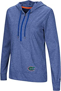 Colosseum NCAA Women's -Sugar- Casual Waffle Knit 1/2 Zip Hoodie Pullover with Kangaroo Pocket and Thumb Holes