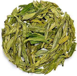 Teavivre Organic Superfine Dragon Well Long Jing Green Tea Chinese Loose Leaf Tea – 3.5oz / 100g