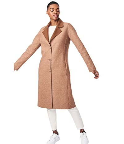 Bernardo Fashions Sweater Wool Coat (Brick) Women